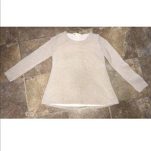 Zara Open Back Sheer Lining Sweater Size S